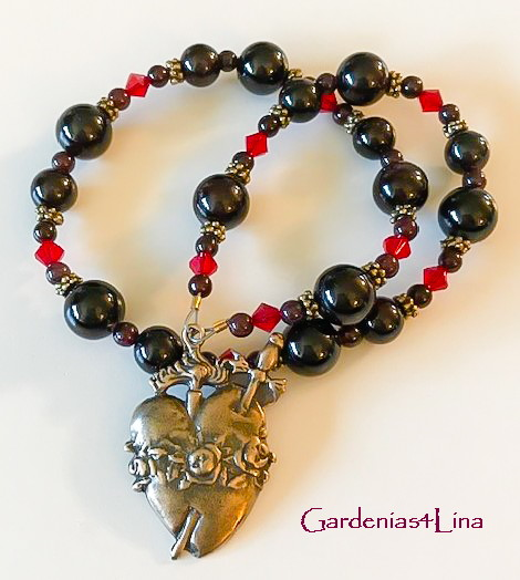 Seven Sorrows of Mary One Hail Mary Garnet Chaplet (copyrighted)
